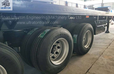 3 Axles 45ft Flatbed Container Transport Semi Truck Trailer