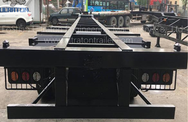 3 Axles 20ft Skeletal Container Transport Semi Truck Trailer