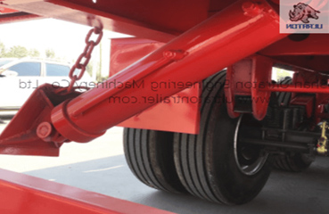 3 axles 60 Ton Semi Side Dump Trailer