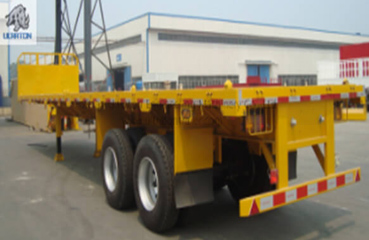 2 Axles 20ft Flatbed Container Transport Semi Truck Trailer