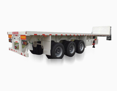 3 Axles 40ft Flatbed Container Transport Semi Truck Trailer