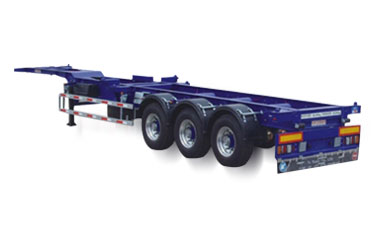 3 Axles 40ft Skeletal Container Transport Semi Truck Trailer